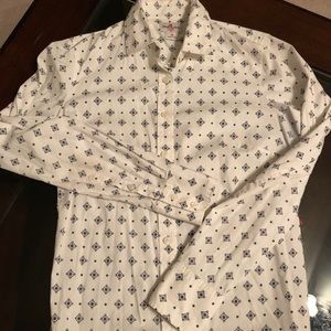 J Crew Geometric Shapes Button Down, Size XS